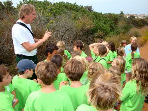 Chaparralian extraordinaire Richard Halsey leads village church kids on a Chaparral Lands Conservancy Nature Walk